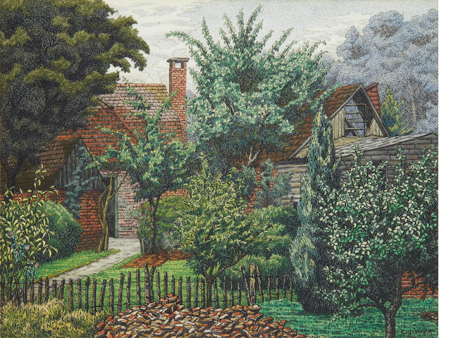 Charles Ginner (British, 1878-1952) Anton Lock's Cottage and Studio