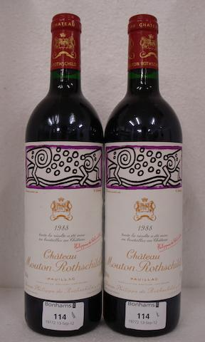 Chateau Mouton Rothschild  1988 (2)