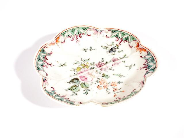 A rare Longton Hall saucer or spoon tray, circa 1755