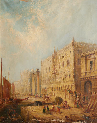 Jane Vivian (British, active 1869-1877) The Doge's Palace, Venice