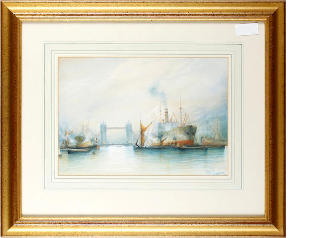 H. Williamson (Unattributable) The Thames, with shipping before Tower Bridge