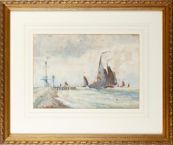 Frank Henry Mason (British, 1875-1965) Off Volendam