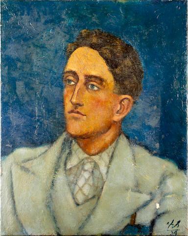 Jean Georges Simon (British, 1894-1968) Portrait of J A Pye