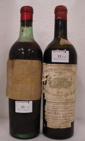 Chateau Margaux 1937 (1)<BR />Chateau Margaux 1942 (1)