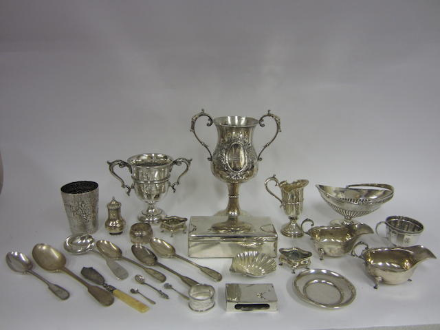 An Edwardian twin-handled silver trophy Sheffield 1909