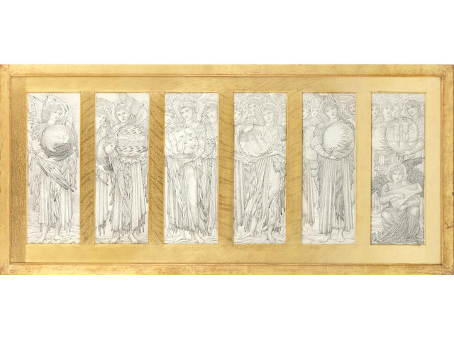 Sir Edward Coley Burne-Jones, Bt., ARA (British, 1833-1898) Studies for 'The Days of Creation'