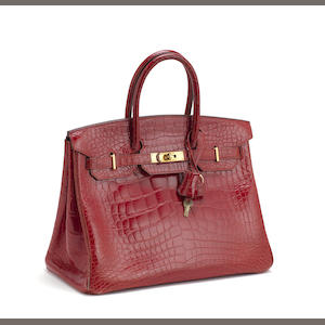 Hermes Red Crocodile Birkin