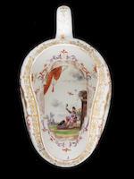 A rare Meissen bourdalou, circa 1724