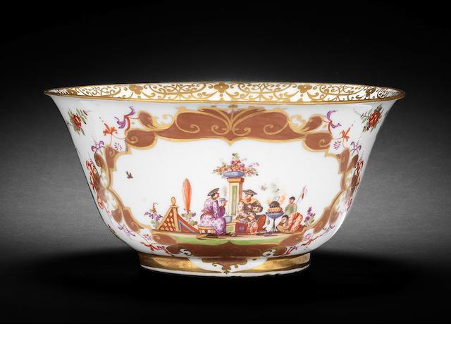 A Meissen slop bowl, circa 1726-30