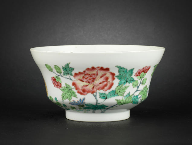 A famille rose bowl Yongzheng six-character mark