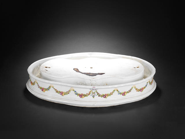 A very rare Doccia shaped centrepiece base, circa 1760-80