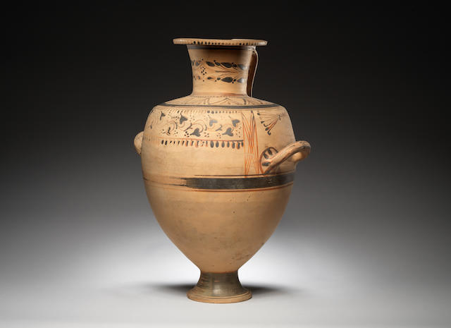 A Hellenistic Hadra ware pottery hydria