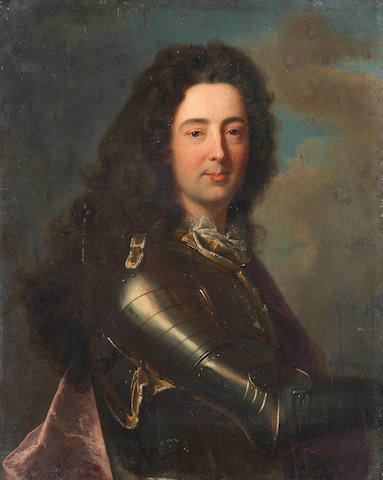 Circle of Hyacinthe Rigaud (Perpignan 1659-1743 Paris) Portrait of a nobleman, half-length, in armour unframed