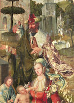 Antwerp Mannerist, circa 1540 The Massacre of the Innocents; and The Holy Family with Saint John  (2