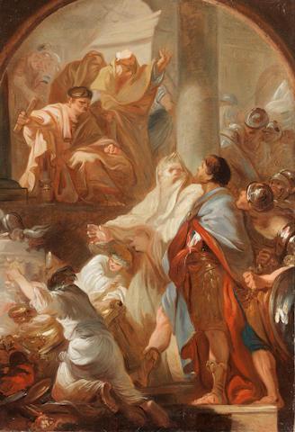 Michel-François Dandré-Bardon (Aix 1700-1778 Paris) A Temple scene