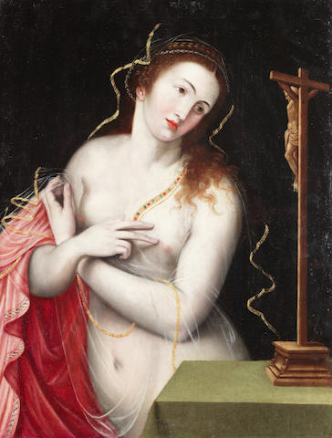 Flemish School, circa 1600 The Penitent Magdalen unframed