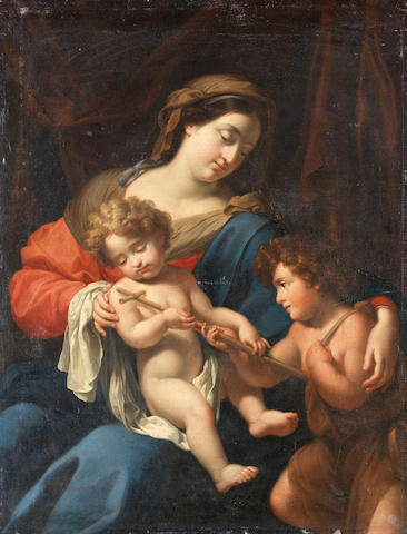 Studio of Francesco Trevisani (Capo d'Istria 1656-1746 Rome) The Madonna and Child with the infant Saint John the Baptist unframed