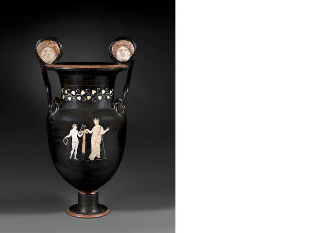 A monumental Gnathian ware volute krater