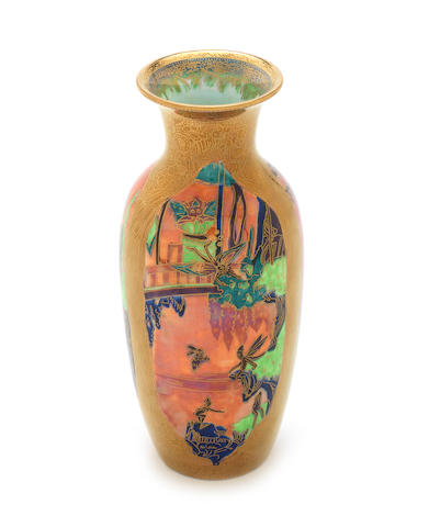 Daisy Makeig-Jones for Wedgwood 'Jewelled Tree' a Flame Fairyland Lustre Vase, circa 1920