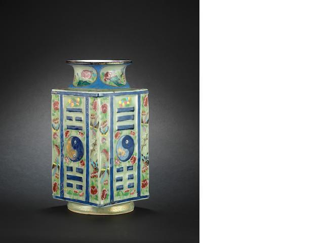 A Canton famille rose vase, cong