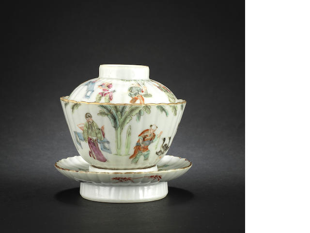 A famille rose bowl, cover and stand Daoguang six-character mark