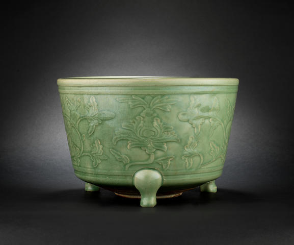 A celadon incense burner Ming Dynasty