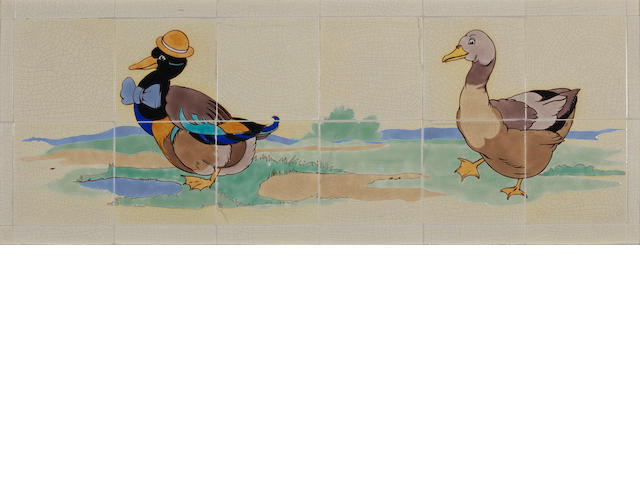 Poole nursery tile panel