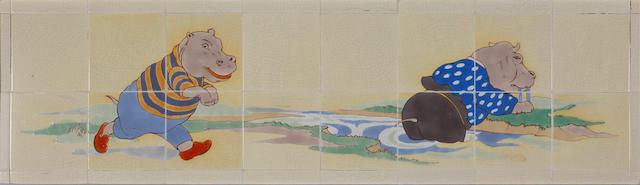 Poole nursery tile panel