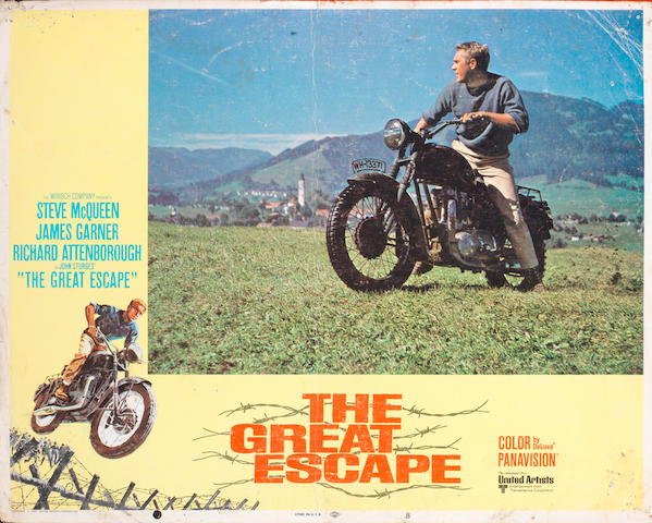 A rare set of eight 'The Great Escape' lobby cards,