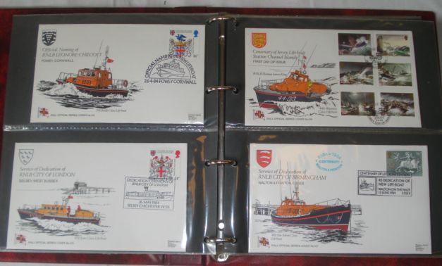Three albums of First Day Covers, mainly Lifeboat related, decimal coin set 1983, wrist watches, Zeiss Ikon 35mm camera and a snuff box.