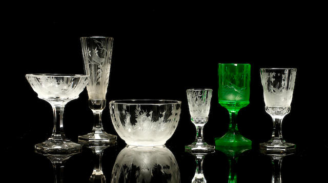 An extensive suite of Bohemian glassware, circa 1870-80