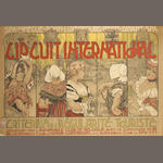 An early 'Circuit International' advertising poster, 1906,