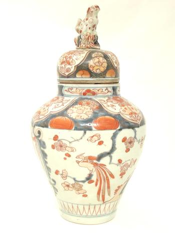 An Imari jar and cover Circa 1700