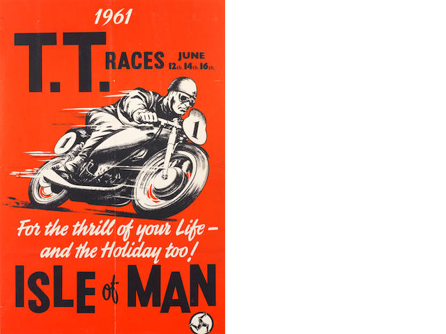 A 1961 Isle of Man TT race poster,