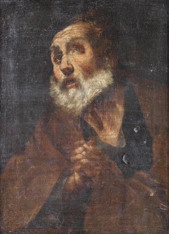 Follower of Guido Reni (Calvenzano 1575-1642 Bologna) Saint Peter