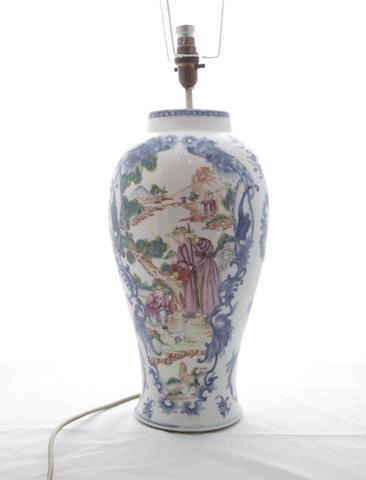 An export famille rose baluster vase Late Qianlong
