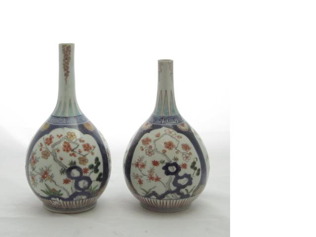 A pair of Arita bottle vases Late 17th century