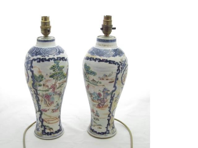 A pair of export baluster vases Late Qianlong