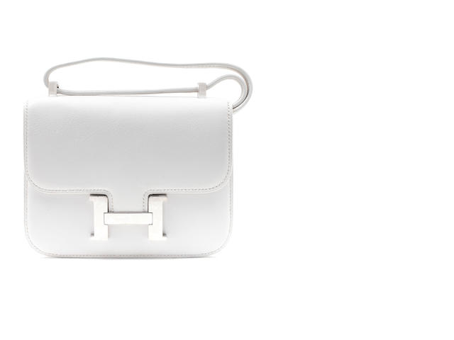 An Hermès white togo leather mini Constance, 2010