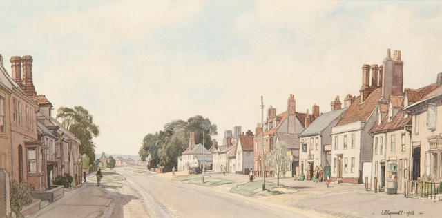Leonard Russell Squirrell, R.W.S., R.I., R.E. (British, 1893-1979) Clare High Street