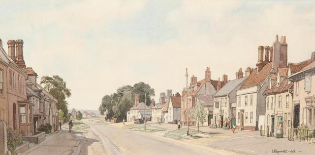 Leonard Russell Squirrell, R.W.S., R.I., R.E. (British, 1893-1979) Clare High Street