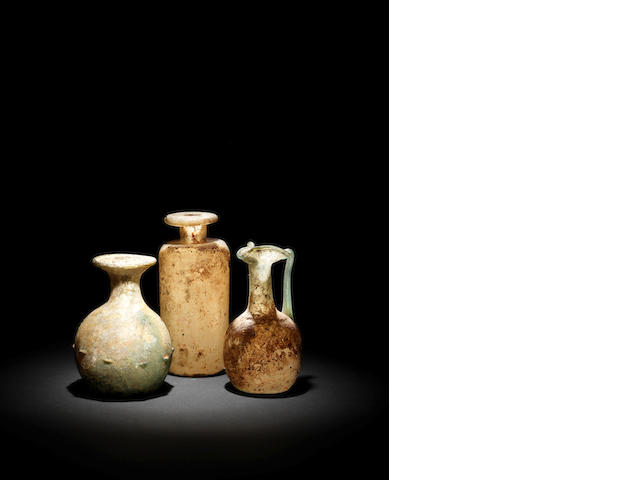 3 x Roman glass vessels