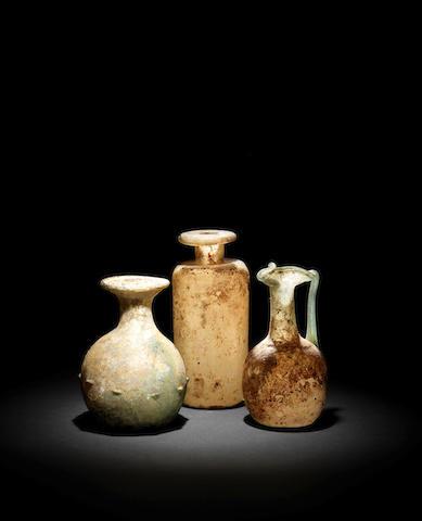3 x Roman glass vessels