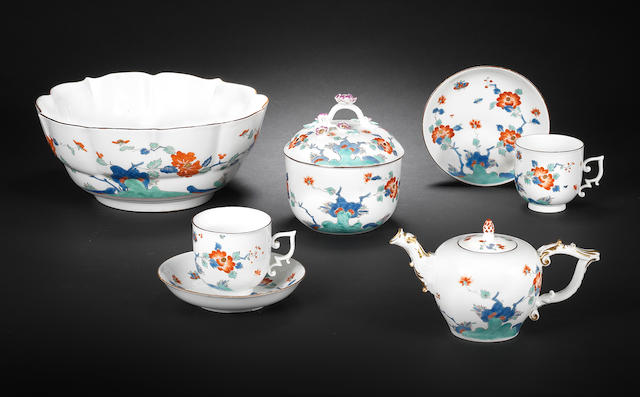 A Meissen part tea service, circa 1740