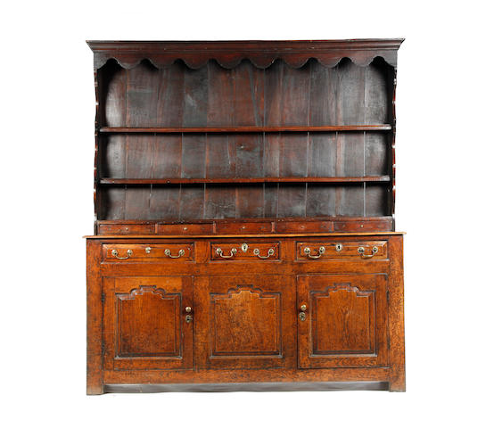 A George II oak high dresser North Wales