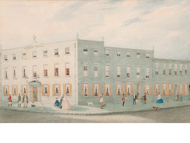 Henry Davy (1793-1865) The Great White Horse Hotel, Ipswich