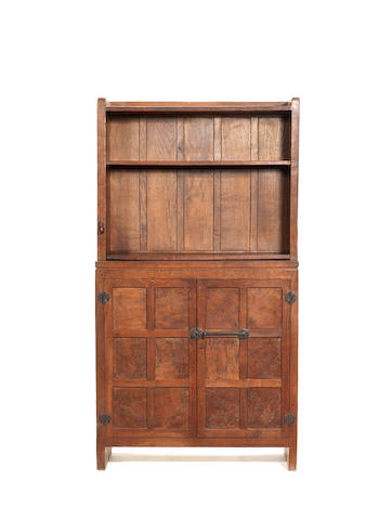 A Mouseman bookcase/cupboard