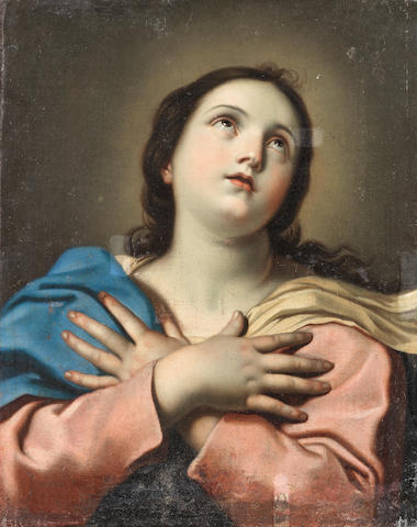 Follower of Guido Reni (Calvenzano 1575-1642 Bologna) The Madonna in Ecstasy unframed