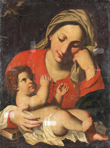 Circle of Carlo Cignani (Bologna 1628-1719 Forli) The Madonna and Child unframed