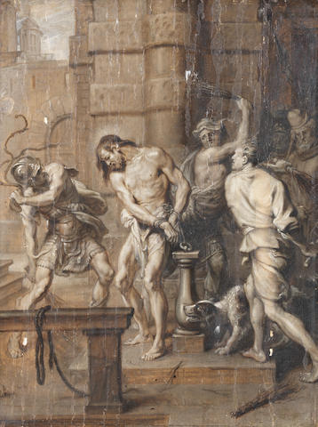 Attributed to Erasmus Quellinus II (Antwerp 1607-1678) The Flagellation unframed